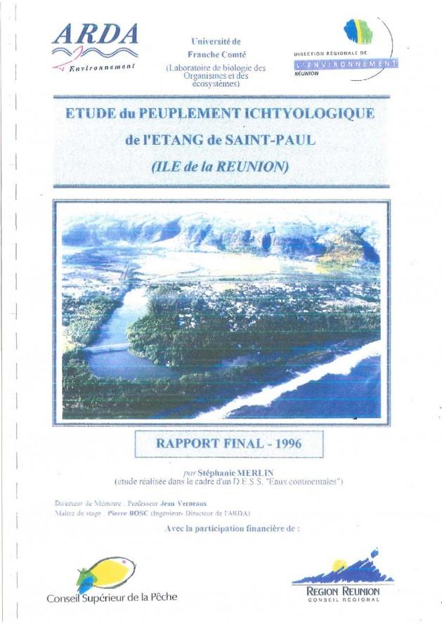 Étude du peuplement ichtyologique de l'Étang de Saint-Paul (Île de la Réunion)