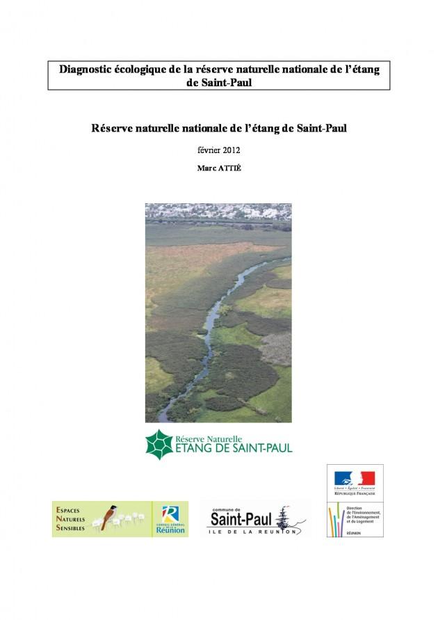 Diagnostic écologique de la réserve naturelle nationale de l'étang de Saint-Paul