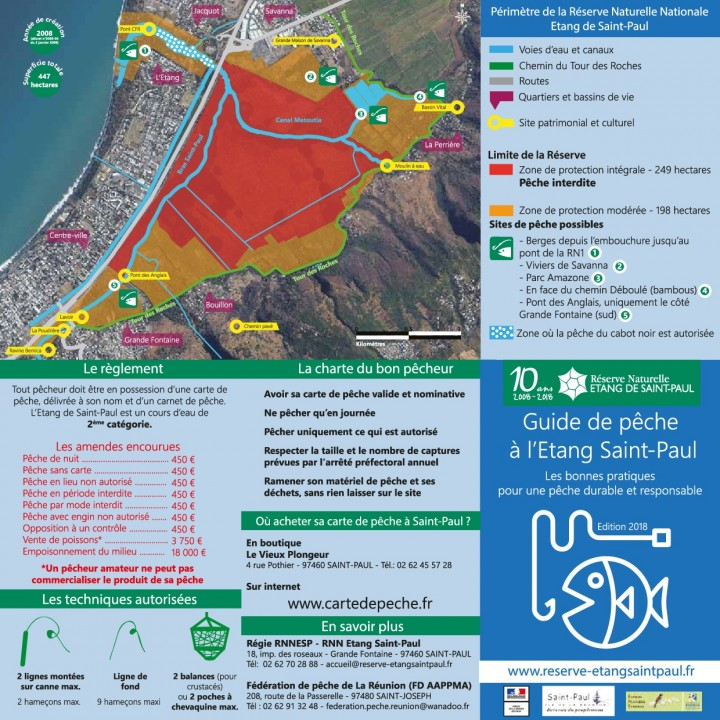 Guide pêche 2018 à l'Etang Saint-Paul