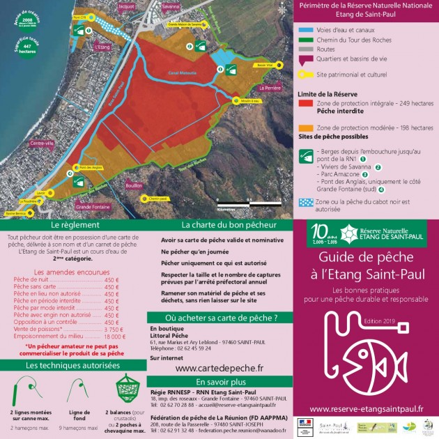 Guide pêche 2019 à l'Etang Saint-Paul