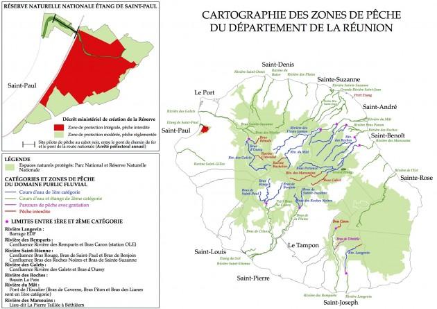Cartographie des zones de pêche à La Réunion 2018