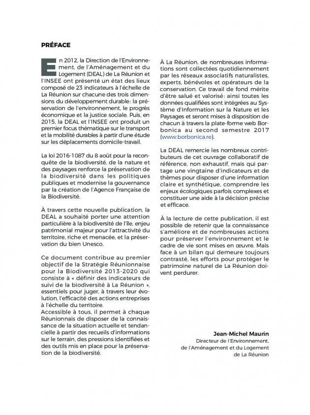 Indicateur de la biodiversité à La Réunion