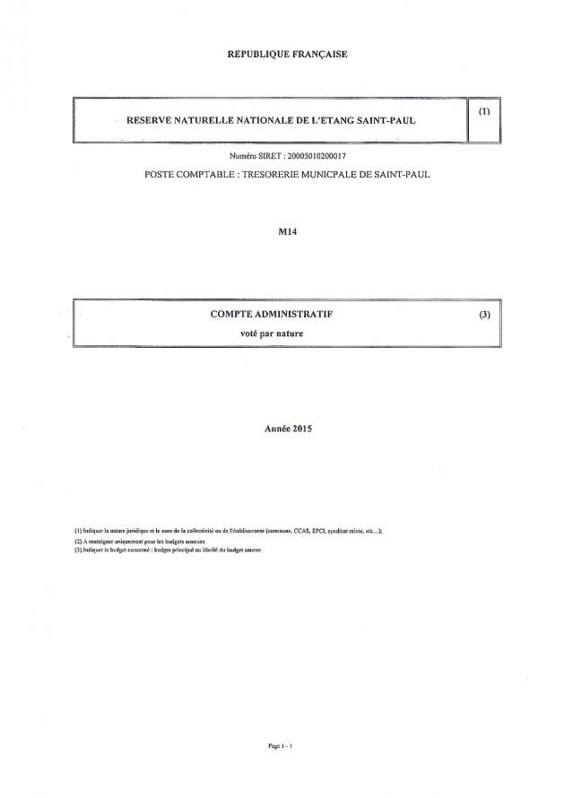Arrêté compte administratif 2015