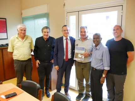 La visite des experts Ramsar à l'Etang Saint-Paul